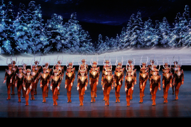 The Rockettes star in The Radio City Christmas Spectacular, directed by Julie Branam, at Radio City Music Hall.