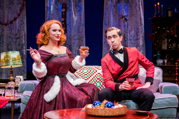 Jinkx Monsoon and Major Scales star in Jinkx & Major: Christmas Mourning at the Laurie Beechman Theatre.