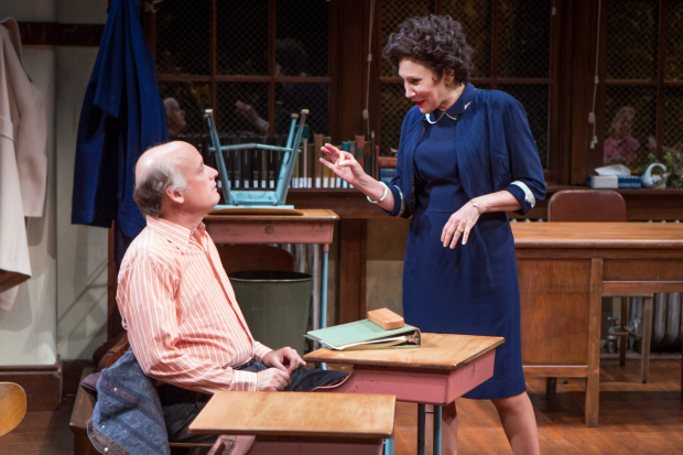 Frank Wood plays Jack Hassenpflug and Randy Graff plays Frieda Cohen in The Babylon Line.