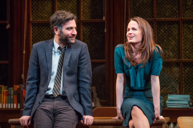 Josh Radnor and Elizabeth Reaser star in Richard Greenberg's The Babylon Line, directed by Terry Kinney, at Lincoln center Theater's Mitzi E. Newhouse Theater.