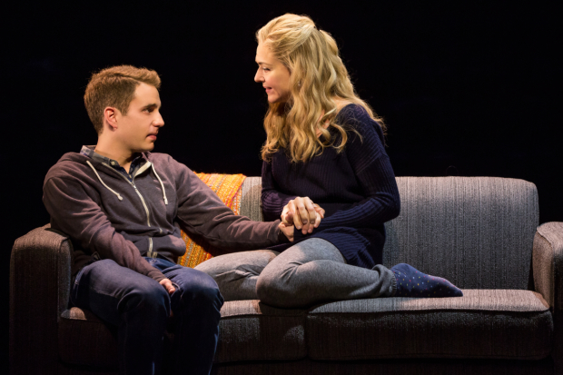 Ben Platt and Rachel Bay Jones star in the new Broadway musical Dear Evan Hansen.