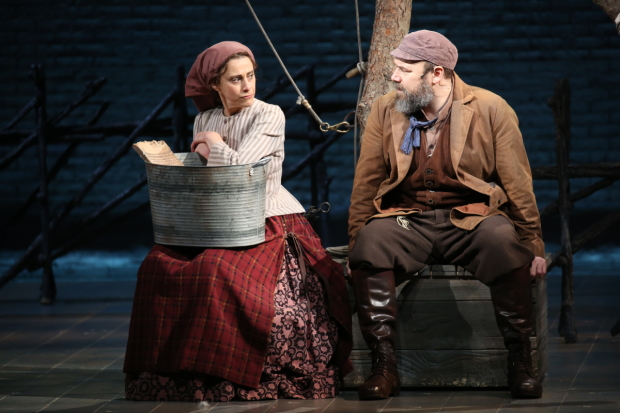 Judy Kuhn and Danny Burstein in Fiddler on the Roof.