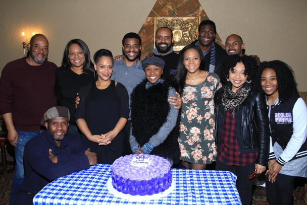Cynthia Erivo and the Color Purple company celebrate the occasion.