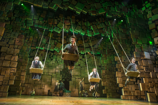 A scene from Matilda The Musical on Broadway.
