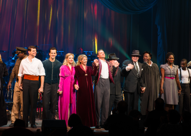 Kelli O'Hara, Will Chase, and the cast of Kiss Me, Kate take a bow.