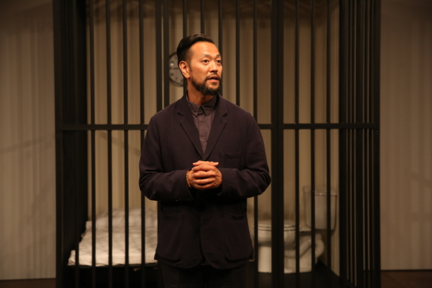 Louis Ozawa Changchien in Christopher Chen's Caught, directed by Lee Sunday Evans, for The Play Company at La MaMa.