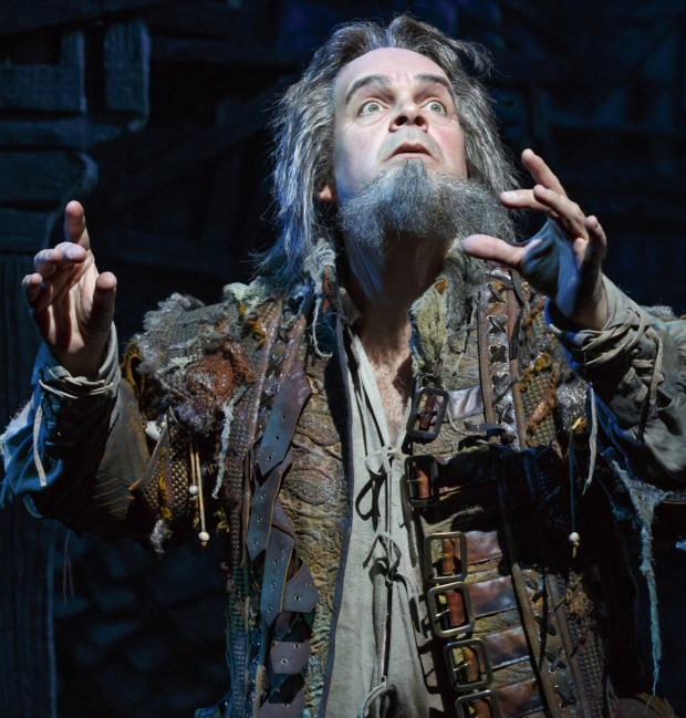 Brad Oscar as Nostradamus in Broadway's Something Rotten! at the St. James Theatre.