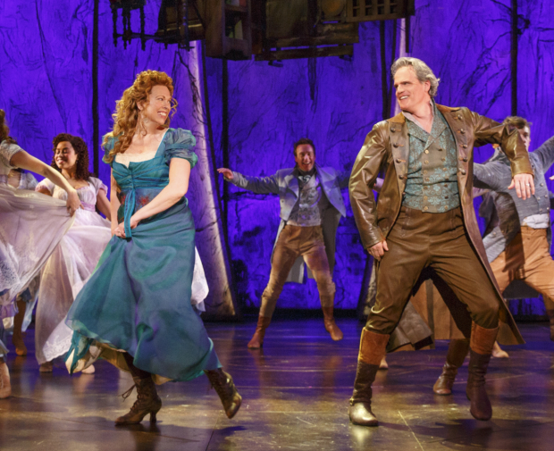 Carolee Carmello and Michael Park in the 2016 Broadway musical Tuck Everlasting.