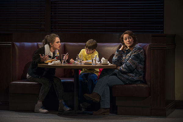 Madeline Weinstein, Jack Edwards, and Rebecca Spence in Mary Page Marlowe, directed by Anna D. Shapiro, at Steppenwolf Theatre.