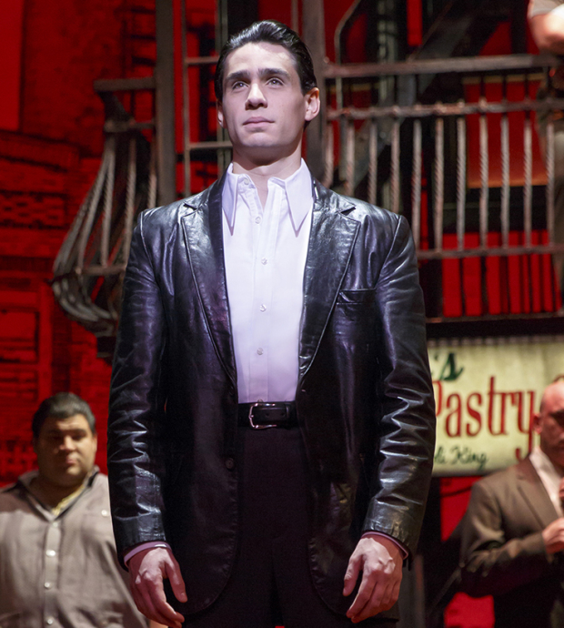 Bobby Conte Thornton as Calogero in A Bronx Tale at the Longacre Theatre.