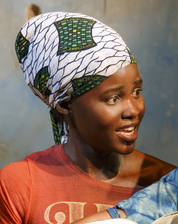 Lupita Nyong'o as The Girl in Eclipsed at the John Golden Theatre.