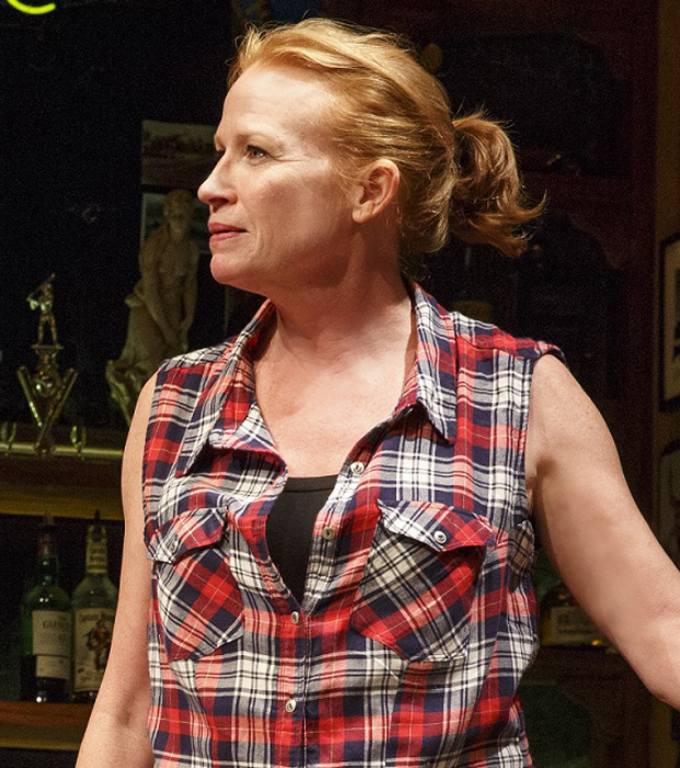 Johanna Day as Tracey in Sweat at the Public Theater.
