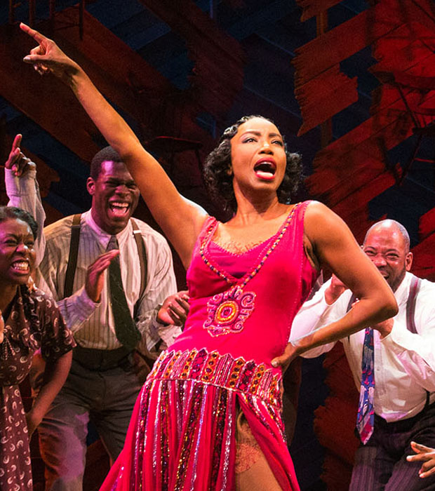 Heather Headley as Shug Avery in The Color Purple at the Bernard B. Jacobs Theatre.