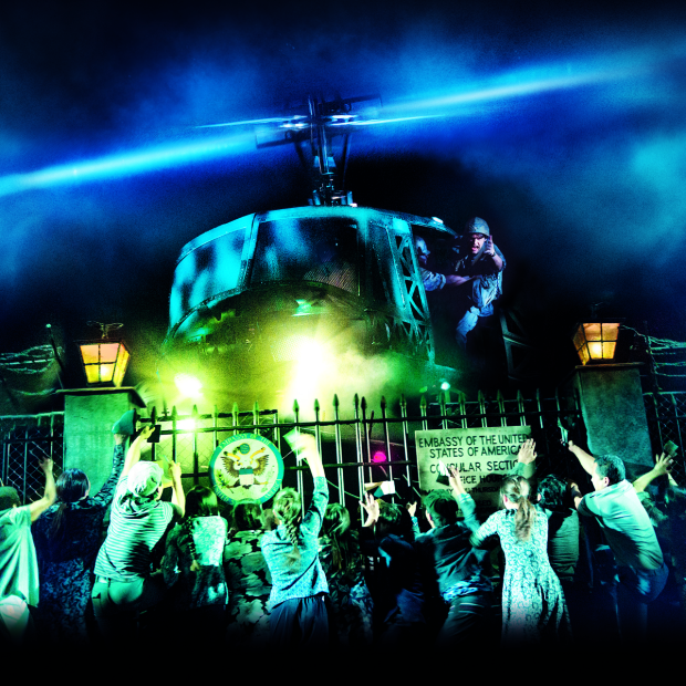 The helicopter lands in the new revival of Miss Saigon, which makes its debut on Broadway this spring.