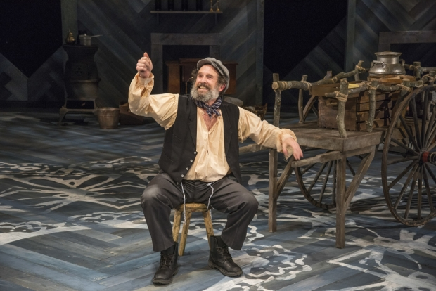 Jeremiah Kissel stars as Tevye in New Repertory Theatre's production of Fiddler on the Roof.