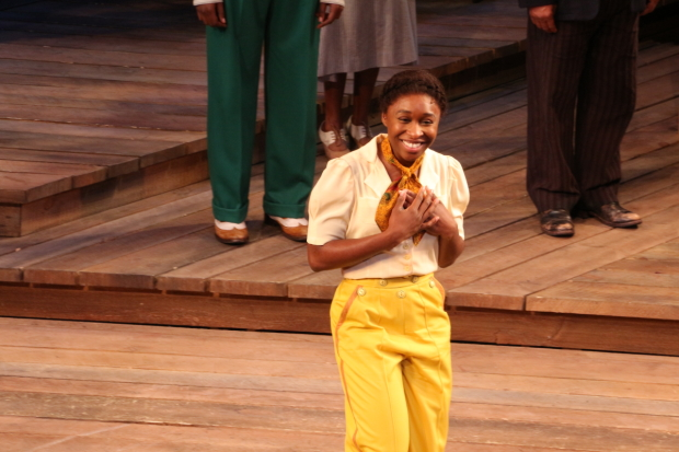 Cynthia Erivo stars in The Color Purple at Broadway's Bernard B. Jacob's Theatre.