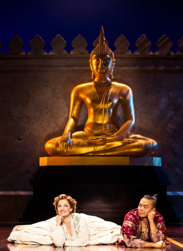 Laura Michelle Kelly as Anna and Jose Llana as The King of Siam in Bartlett Sher's touring production of The King and I.