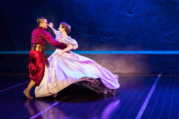 Jose Llana and Laura Michelle Kelly perform in The King and I on tour.