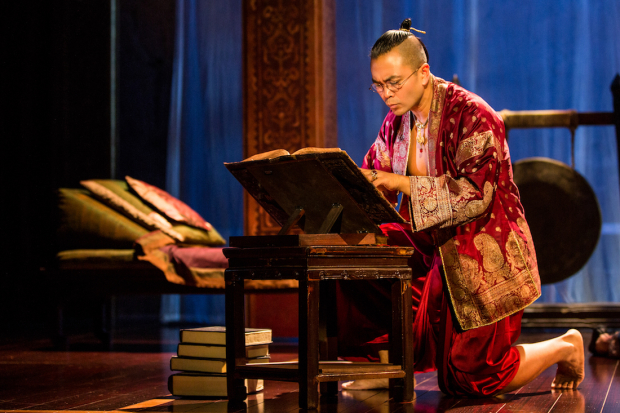 Jose Llana as the King in The King and I, directed by Bartlett Sher.
