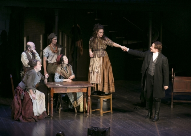 A scene from Alexa Junge's Fingersmith, directed by Bill Rauch, at American Repertory Theatre.