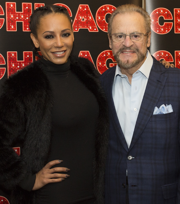 Mel B poses with Chicago producer Barry Weissler.
