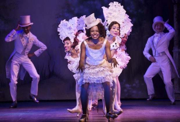 Adrienne Warren in Shuffle Along at the Music Box Theatre.