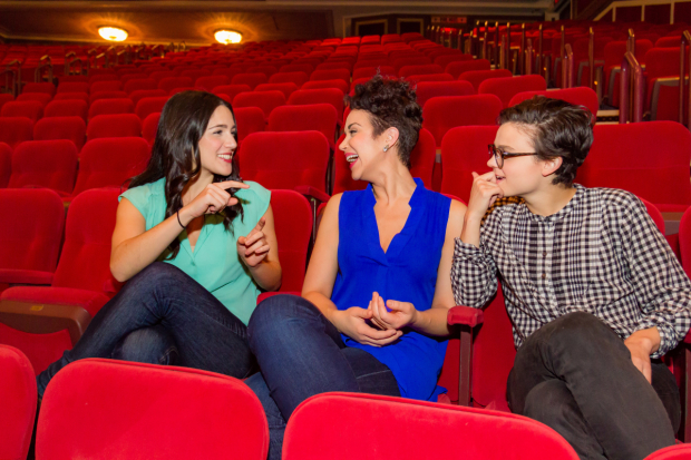 Massell, Silber, and Moore reminiscing in the balcony of the Broadway Theatre.