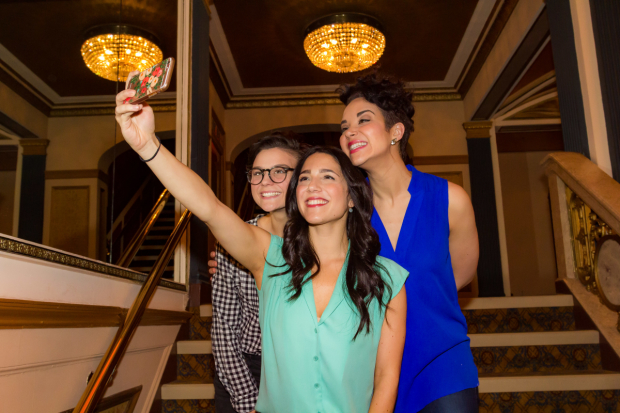 """A commemorative """"final interview"""" selfie for the eldest daughters of Fiddler on the Roof."""