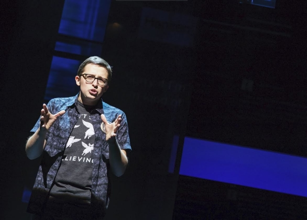 "Will Roland as Jared in '""Dear Evan Hansen'' at the Music Box Theatre."