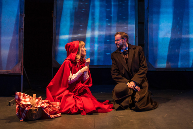 Artistic Associates Samuel Taylor and Lindsey Noel Whiting in Lookingglass Theatre's Mr. and Mrs. Pennyworth, written and directed by Doug Hara.