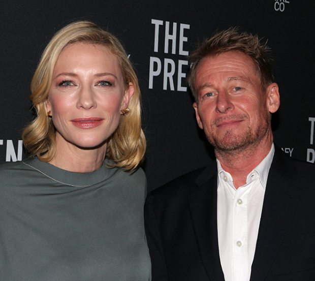 Cate Blanchett and Richard Roxburgh celebrate their opening night in The Present.