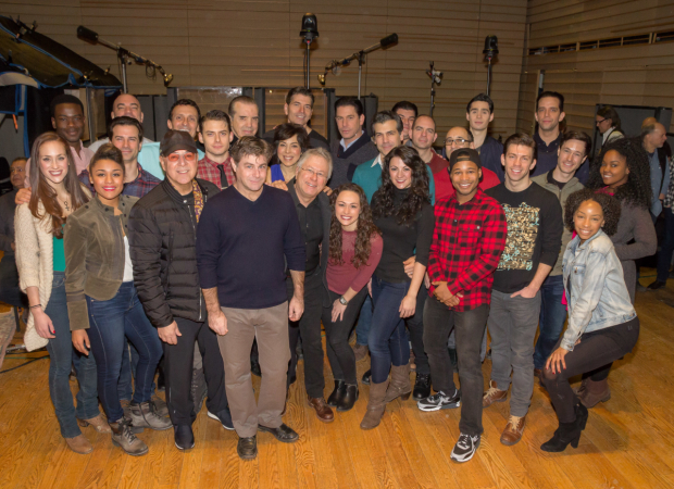 Songwriters Glenn Slater and Alan Menken join their cast.
