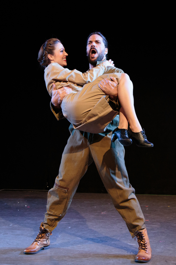 Laura Osnes and Will Swenson in Blueprint Specials, part of The Public Theatre's Under the Radar Festival.