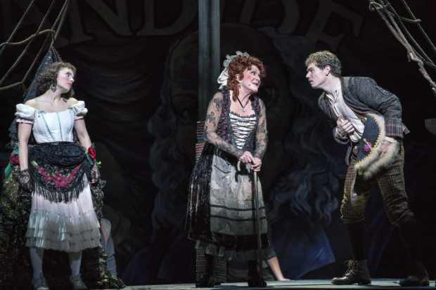 Candide stars Meghan Picerno as Cunegonde, Linda Lavin as the Old Lady, and Jay Armstrong Johnson in the title role.
