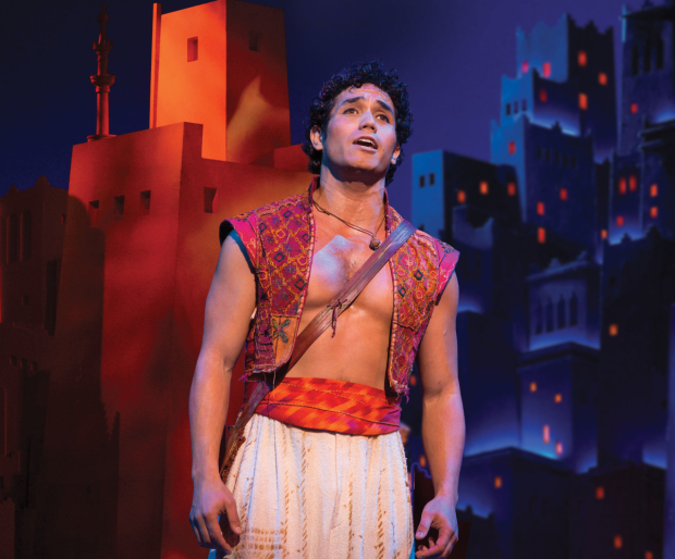 Adam Jacobs in Broadway's Aladdin.