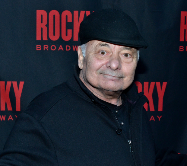 Burt Young poses for a photo at the opening of Rocky the musical.