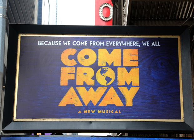 The Come From Away marquee.