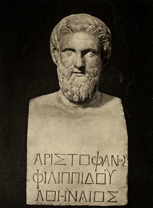 The fifth-century B.C. comedy writer Aristophanes often satirized leading public figures of his day, including Socrates and Cleon.
