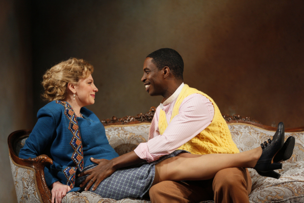 Andrea Syglowski and Sekou Laidlow in A Doll's House, directed by Melia Bensussen, at the Huntington Theatre Company.