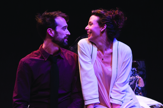 Kyle Cameron and Tessa Klein in The Hard Problem, directed by Matt Torney, at Studio Theatre.