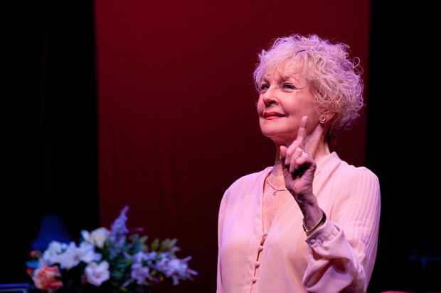 Penny Fuller as Virginia in 13 Things About Ed Carpolotti, written and directed by Barry Kleinbort, at the Broad Stage.