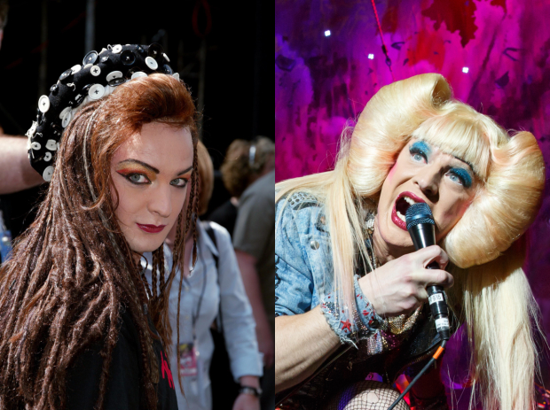 Euan Morton as George in Taboo and Hedwig in Hedwig and the Angry Inch.