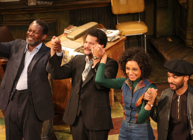 John Douglas Thompson, Brandon Dirden, Carra Patterson, and André Holland take their bow as August Wilson's Jitney opens on Broadway.