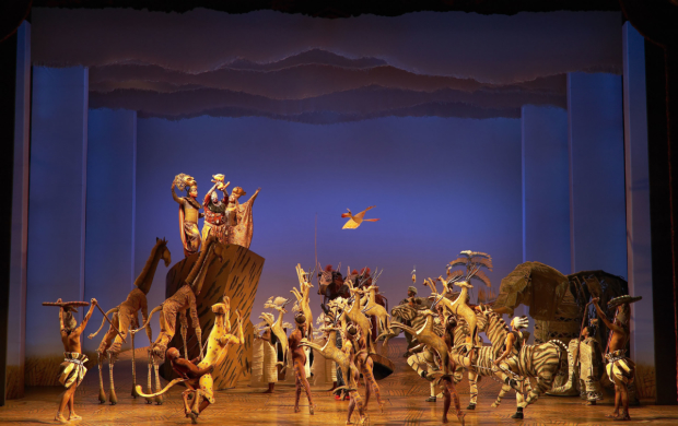 A scene from the musical The Lion King.