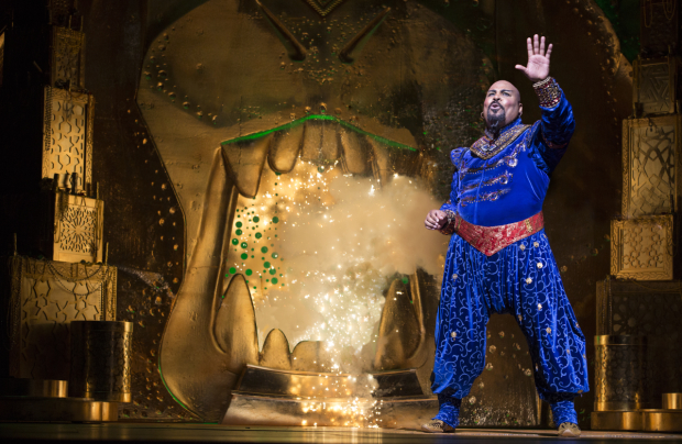 James Monroe Iglehart as Genie in Disney's Aladdin.