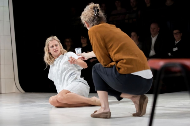Denise Gough and Barbara Marten in the London production of Duncan Macmillan's People Places & Things.
