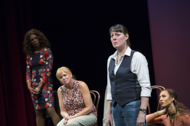 The cast of Trans Scripts, Part I: The Women, directed by Jo Bonney, at the American Repertory Theater.