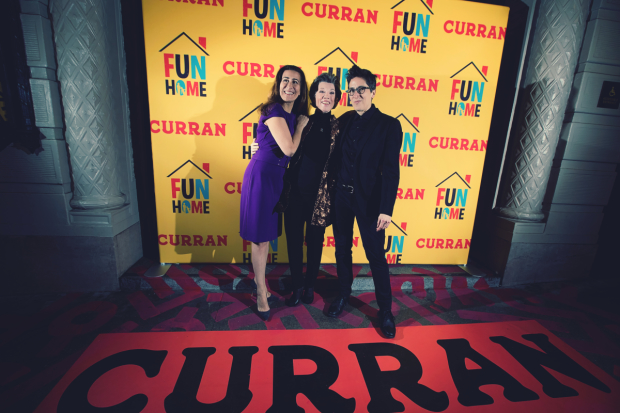 Jeanine Tesori, Carole Shorenstein Hays, and Alison Bechdel pose together on opening night.