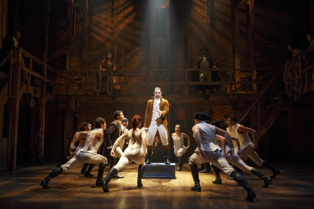 Javier Muñoz stars in Hamilton on Broadway.