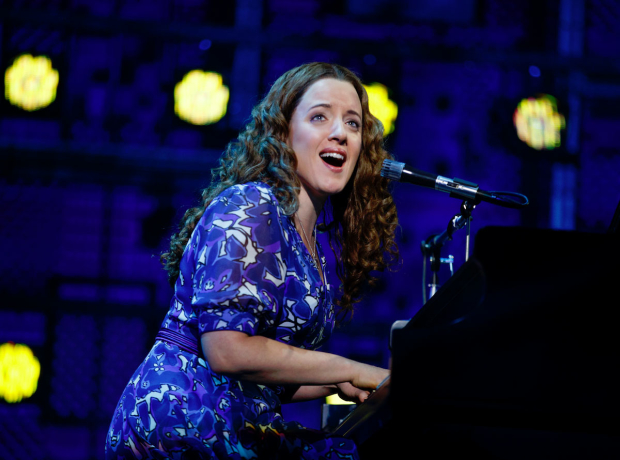Abby Mueller as Carole King in the national tour of Beautiful.